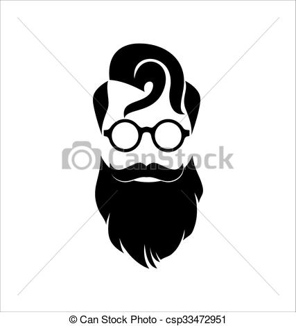 Hipster clipart black and white Monocle 632 Illustration Hipster Stock