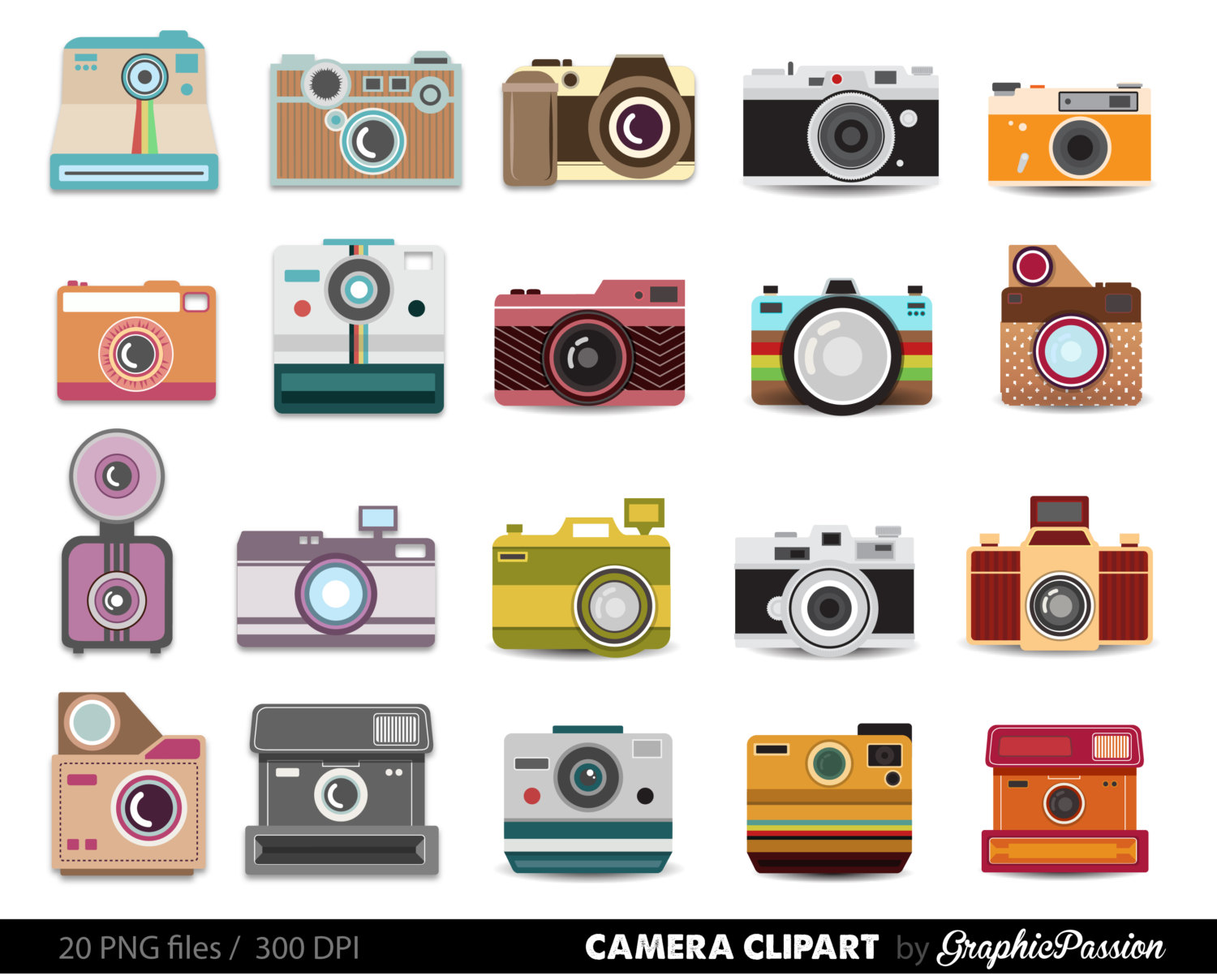 Hipster clipart camera #1
