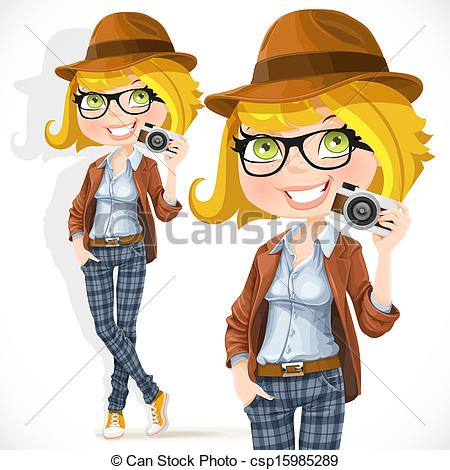 Hipster clipart camera #7