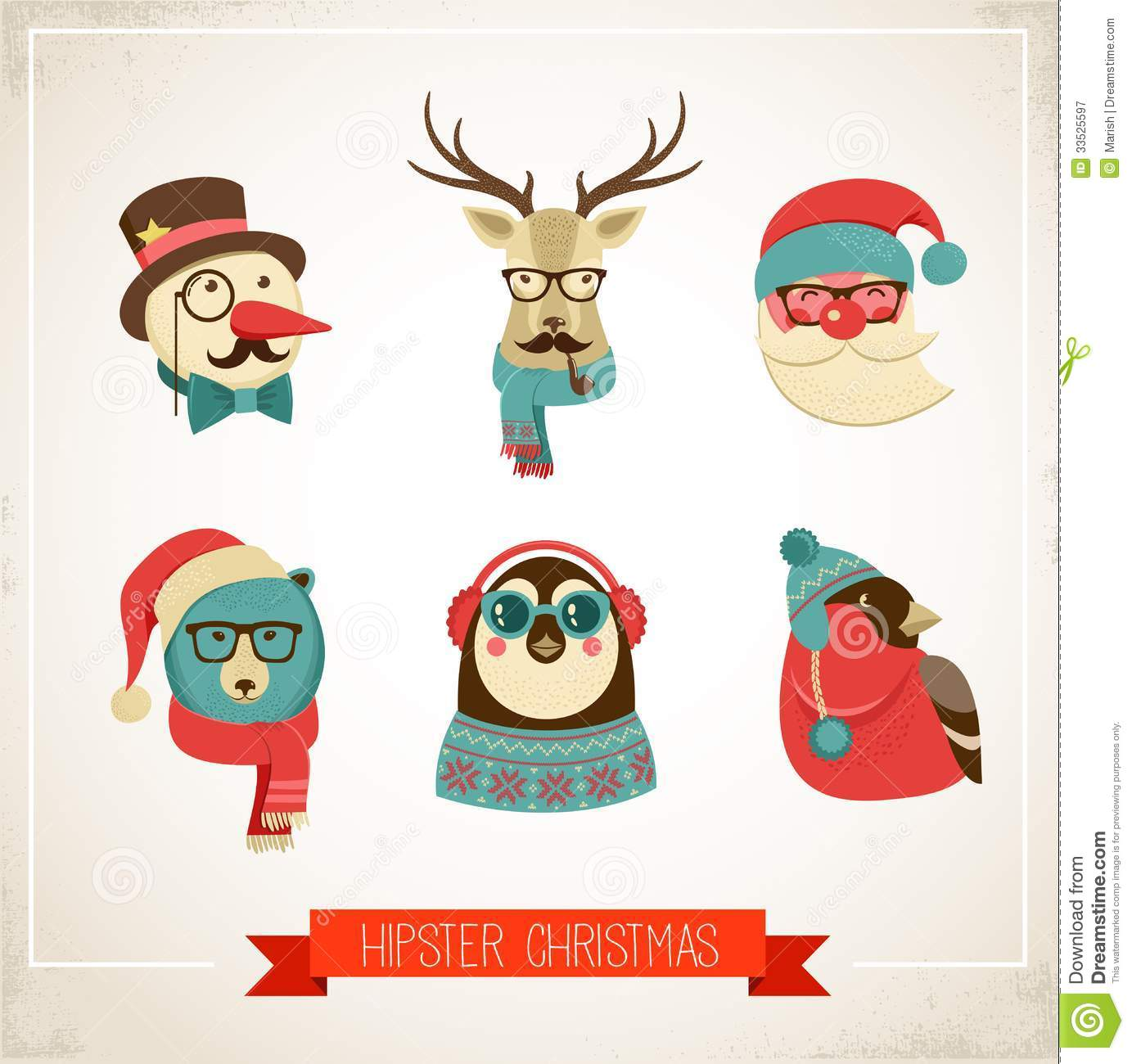 Hipster clipart christmas #4