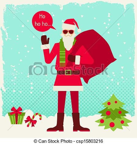 Santa clipart hipster #8