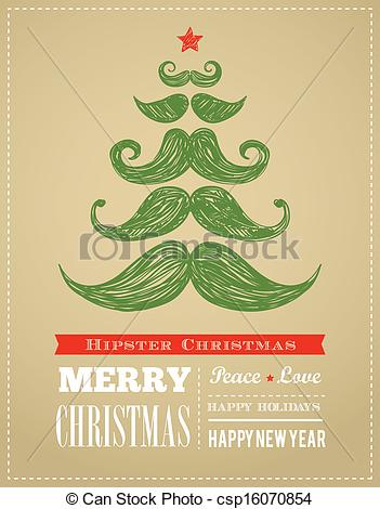 Hipster clipart christmas #5