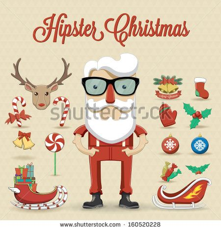 Hipster clipart christmas #10
