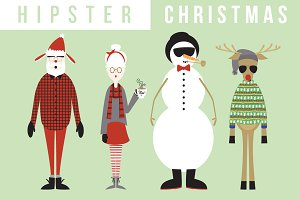 Hipster clipart christmas #8