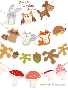 Winter clipart creature Garlands  woodland for So