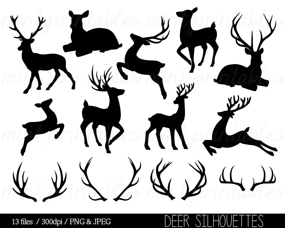 Drawn stag silhouette This Art Like Clip Deer