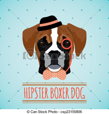 Hipster clipart dog #3