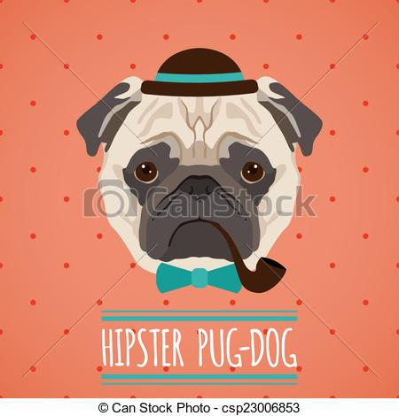 Hipster clipart dog #4
