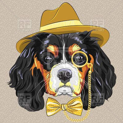 Hipster clipart dog #9