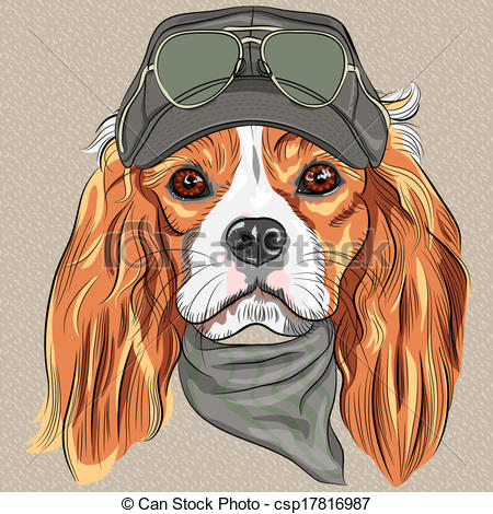 Hipster clipart dog #5