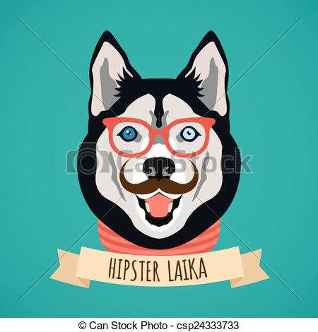 Hipster clipart dog #7