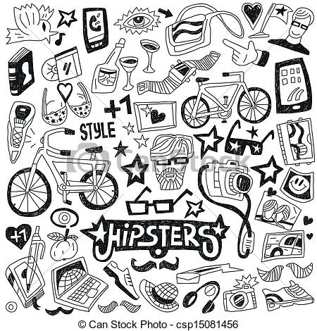 Hipster clipart doodle #2