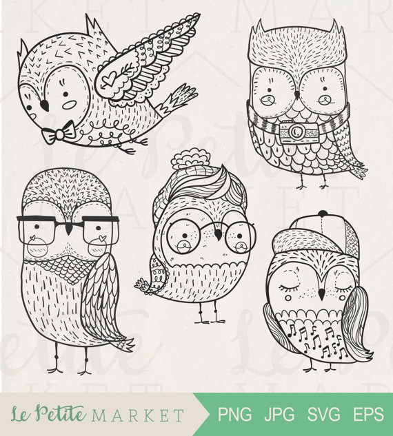 Hipster clipart doodle #3