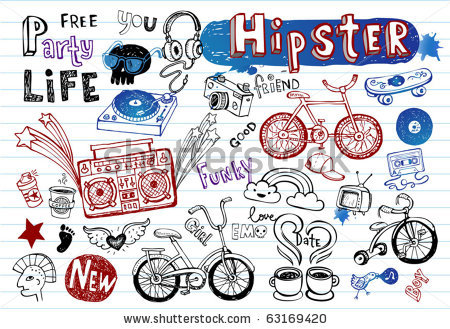 Hipster clipart doodle #1