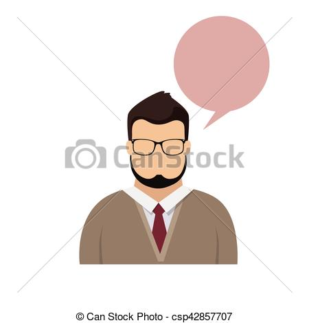 Hipster clipart face #6