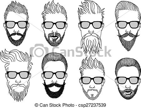Hipster clipart face #3