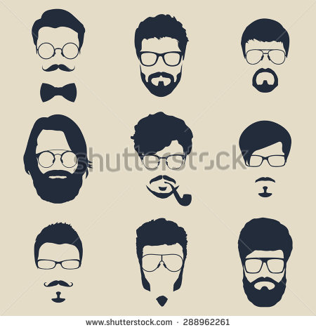 Hipster clipart face #4