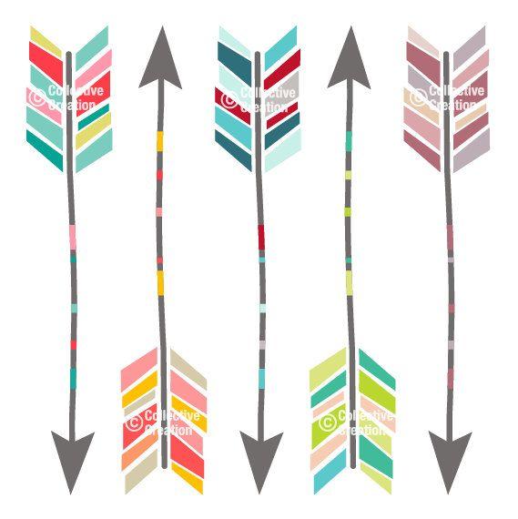 Arrow clipart funky #7