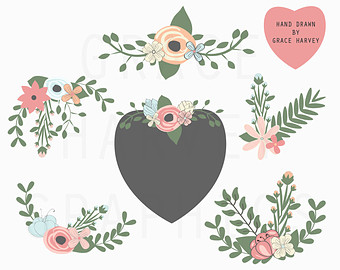 Wreath clipart flower illustration Laurel PNG and Clip Clip