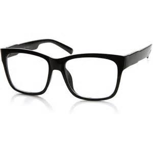 Hipster clipart frame Large zeroUV Glasses Nerd Wayfarer