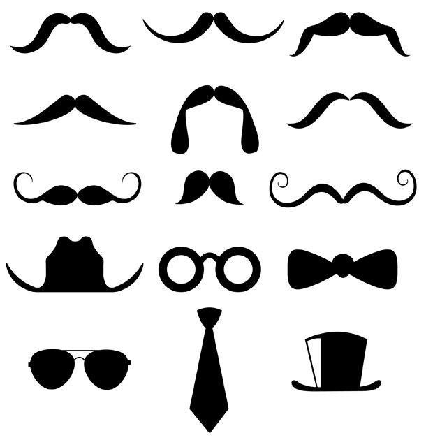 Hipster clipart french mustache #5