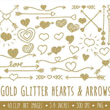 Hearts clipart arrow clip art Glitter Art Arrow Wanelo Best