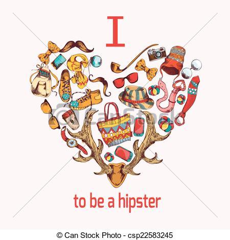 Hipster clipart heart #7