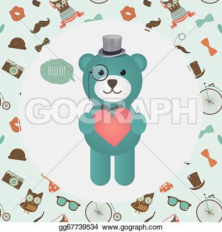 Hipster clipart heart #3