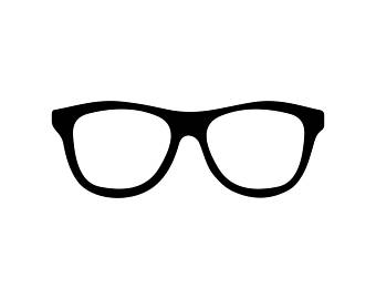 Spectacles clipart hipster glass Glasses instant Dxf glasses Art