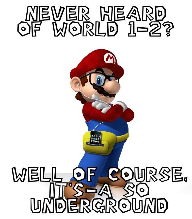 Hipster clipart mario Hipster  Mario
