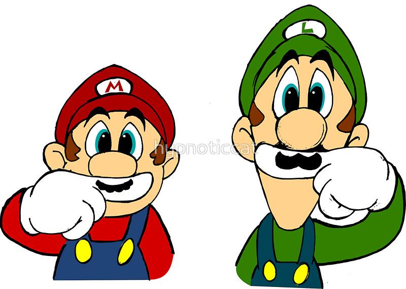 Hipster clipart mario By Mario Bros Mario Stickers