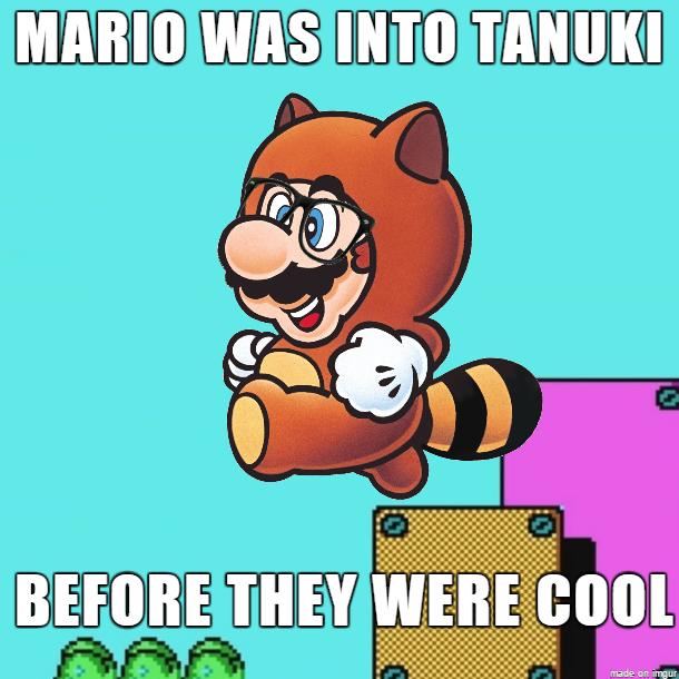 Hipster clipart mario Meme on Tanuki Hipster Hipster