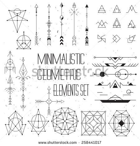 Set vector elements stock minimalism/geometry/hipster