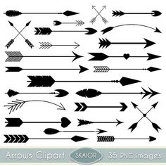 Hipster clipart modern arrow Tribal Invitations Arrows Arrow Vector