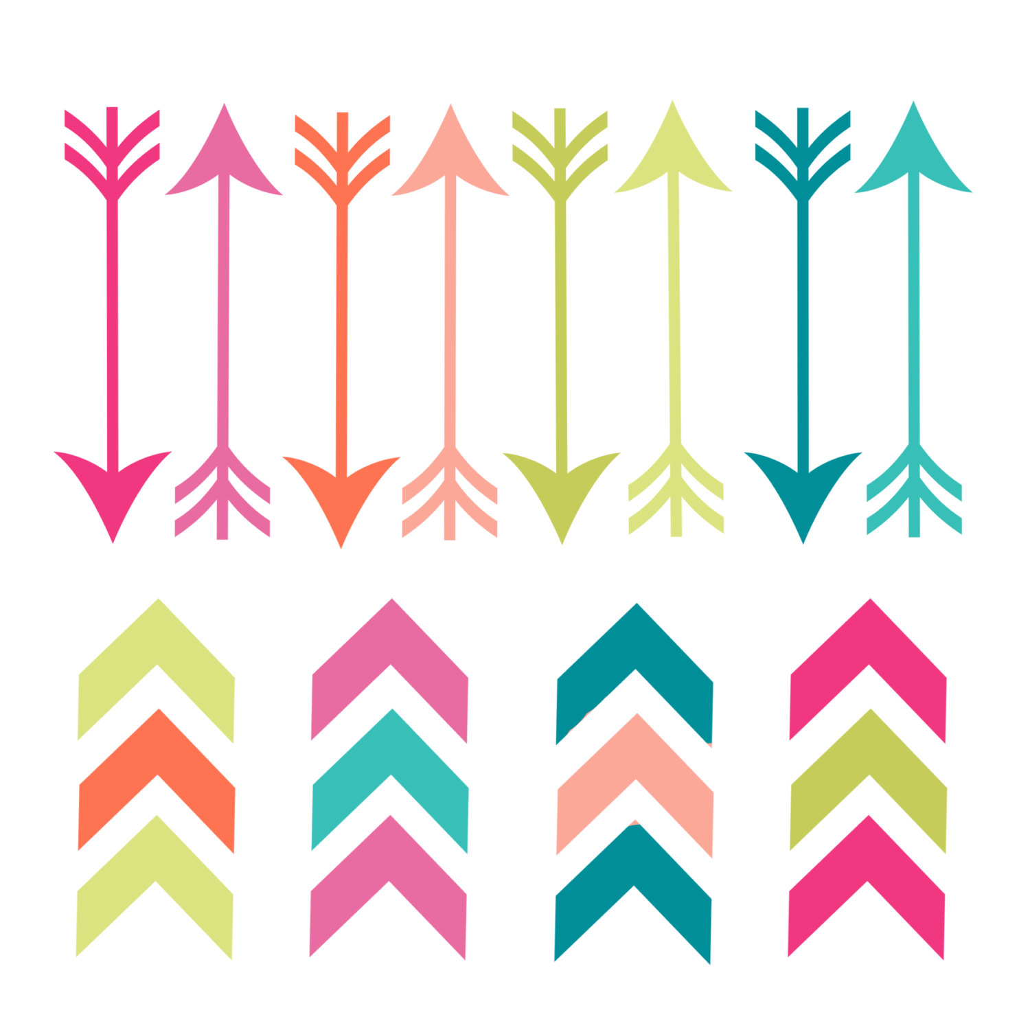 Hipster clipart modern arrow Arrow Clipart — Feather Images
