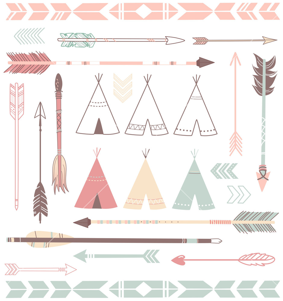 Hipster clipart modern arrow Tents Teepee And  Tents