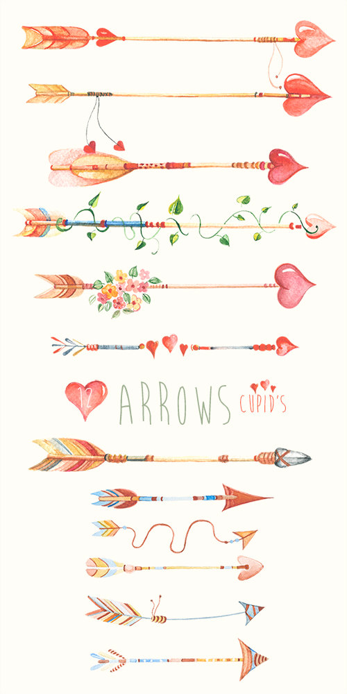 Hipster clipart modern arrow Download Free Drawn Hand flowers…