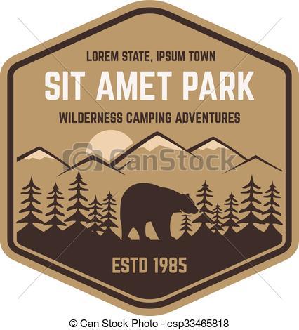 Hipster clipart mountain Badge Vector explorer National logo