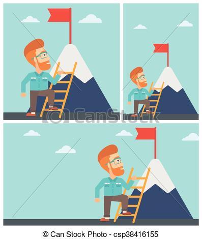 Hipster clipart mountain Climbing climbing Young Clipart mountain