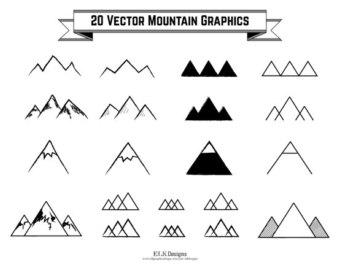 Hipster clipart mountain 300 Vector Mountain Drawn 1