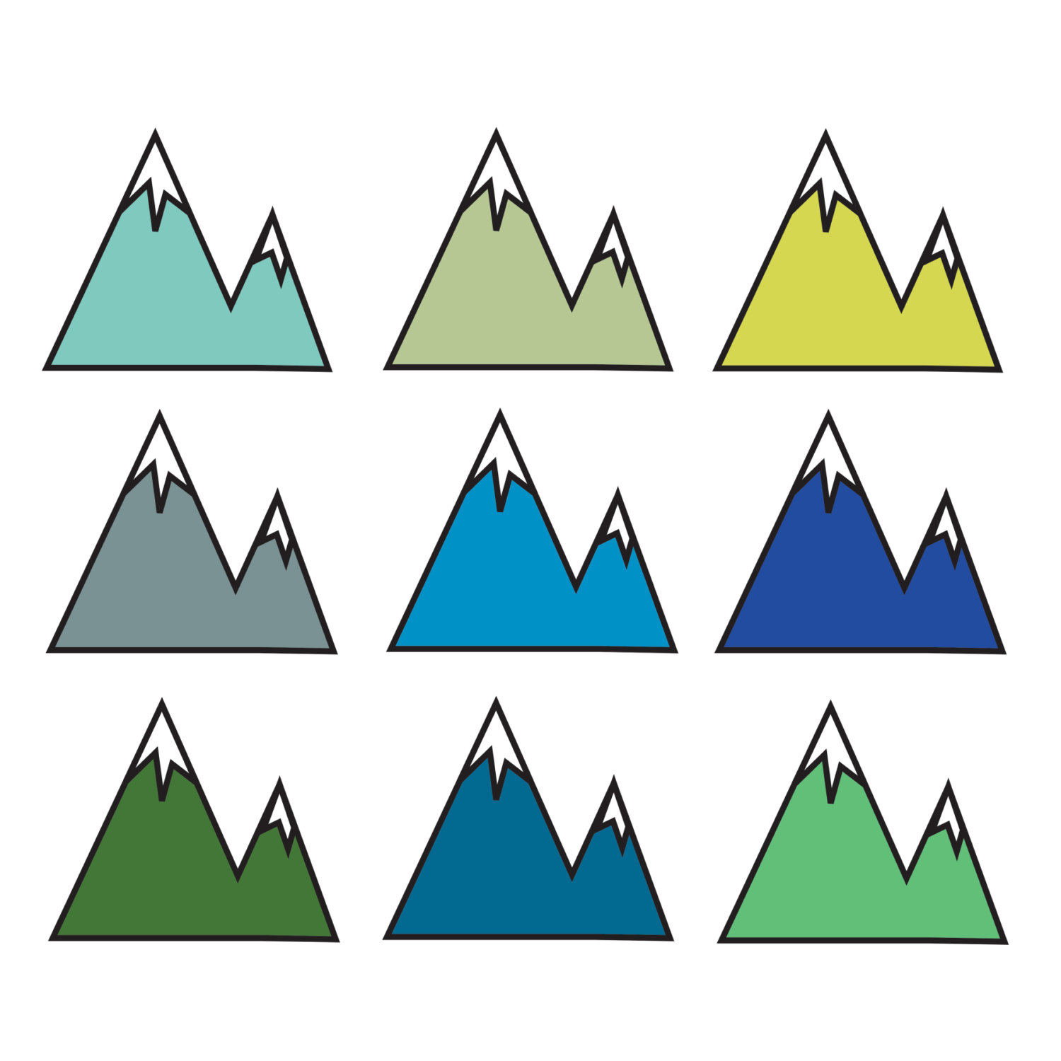 Mountain clipart simple #1
