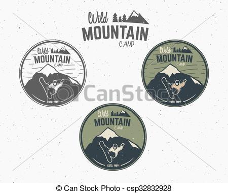 Hipster clipart mountain Explorer hipster logo of hand