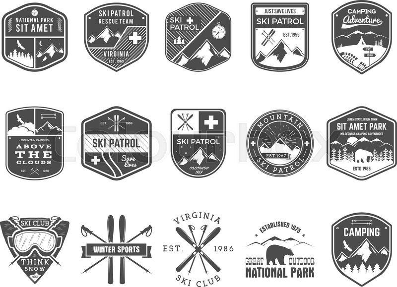 Hipster clipart mountain  of Vintage vector camp
