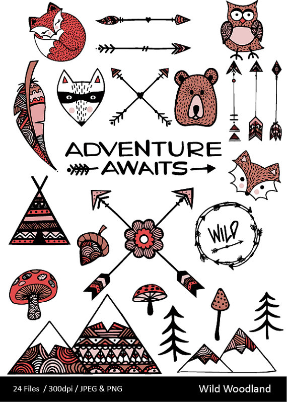 Hipster clipart mountain Bear Forest Hipster Woodland Adventure