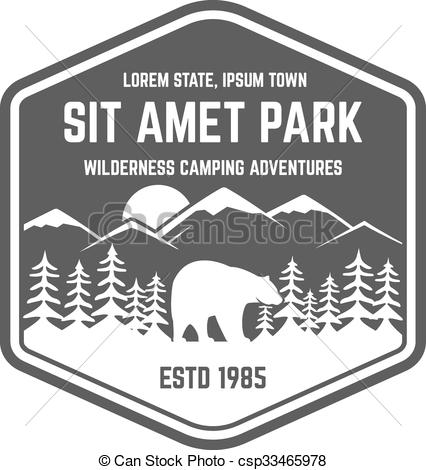 Hipster clipart mountain Badge Vectors explorer National logo