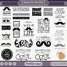 Hipster Word Graphics para Brushes