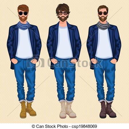 Hipster clipart person #4
