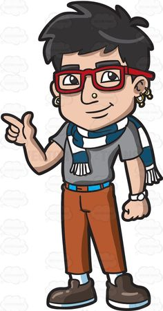 Hipster clipart person #3