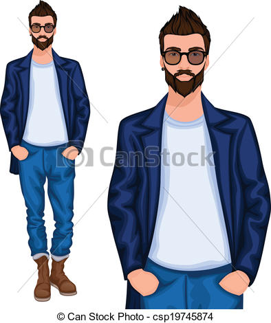 Hipster clipart person #1