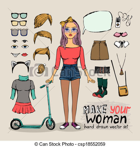 Hipster clipart person #9